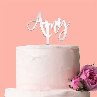 Personalised Name Only Cake Topper: Mirror Acrylic