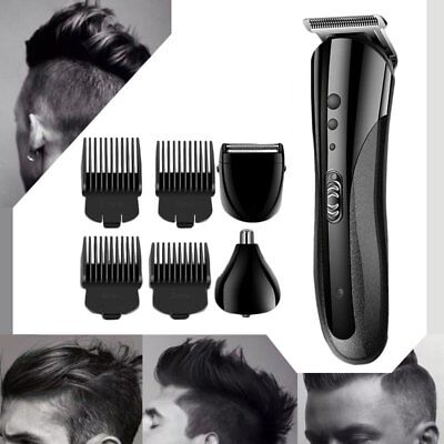Pro Waterproof Rechargeable Electric Hair Clipper Shaver Trimmer Razor Beard Y9