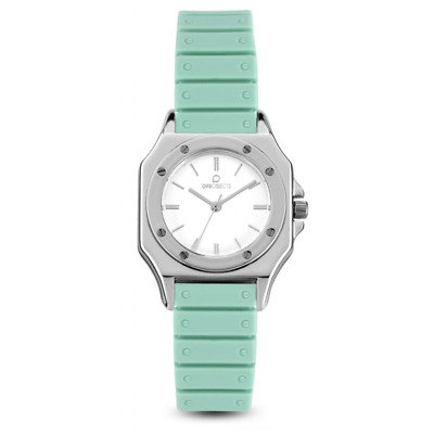 Orologio OPS OBJECTS mod. PARIS ref. OPSPW-507 Donna silicone verde acqua trendy