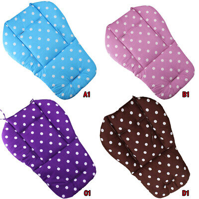 Baby Infant Trolley Stroller Pram Pushchair Soft Seat Dot Liner Pad Cushi XBB