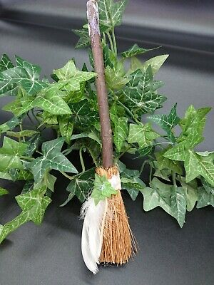 Witches Mini broom Besom Altar spell supplies Pagan Witchcraft white