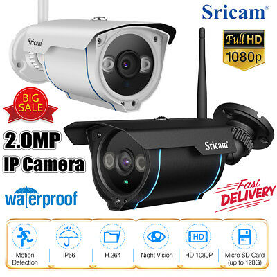 Sricam 1080P Wifi CCTV Security IP camera Surveillance 2.0MP IR-CUT night vision