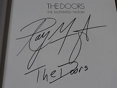 The Doors The Illustrated History - Danny Sugerman Book Signed Ray Manzarek