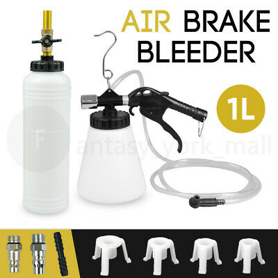 1L Air Brake Bleeder Kit Clutch Vacuum Bleeding Extractor Fluid Adapters NEW AU