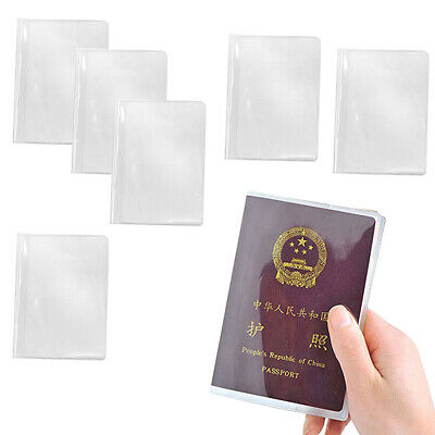6x Plastic Clear Transparent Passport Cover Card Protector Card Storage Case