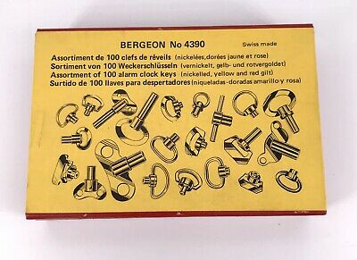 Bergeon 4390 New Assorted 100 x Alarm Buttons and Keys 3WC