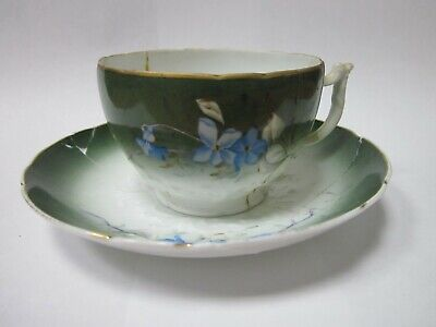 Antique Collectible Gardner 19th Imperial Porcelain RUSSIAN EMPIRE Coffee pair