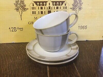 Denby - Truffle Layers - Breakfast Cups And Saucers X2