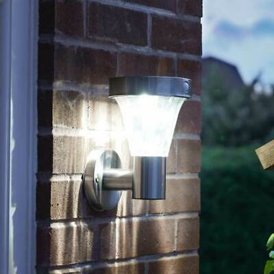 Solar Power Outdoor Stainless Steel Security Wall Light with PIR | Garden Decor