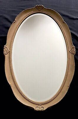 Stunning Oval Gold Antique French Ornate Shabby Chic Mirror