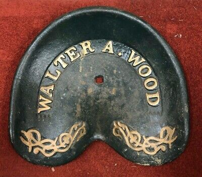 Walter A Wood vintage tractor seat