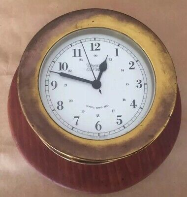 Vintage WEEMS & PLATH Quartz Ship's Bell Clock Nautical Maritime W Germany