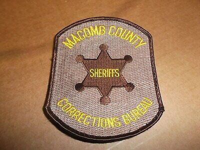 MACOMB COUNTY SHERIFF Dept  (Michigan) Shoulder Patch from
