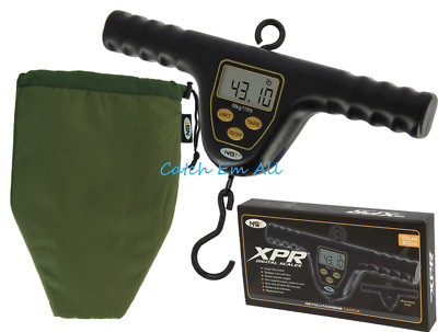 NGT XPR Fishing Scales Digital T Bar Carp Fishing Weighing Scales & Padded Case