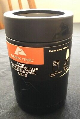 1fc0efaf28c Ozark Trail 12 Oz Double Wall Vacuum Insulated Stainless Can Cooler Koozie  NEW