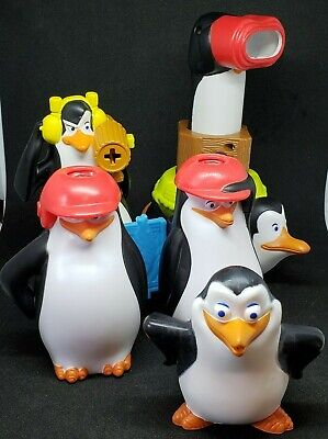 LOT OF 2 McDonald's Happy Meal Toys PENGUINS OF MADAGASCAR