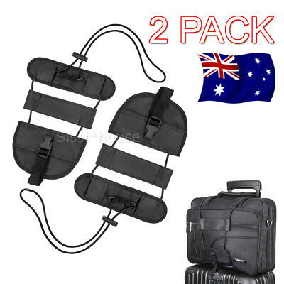 2X Bag Strap Luggage Bungee Travel Suitcase Adjustable Tape Belt Tie Carry On AU