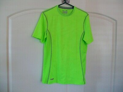 Under Armour Men's Polyester Heatgear Fitted Tee-Green-Small