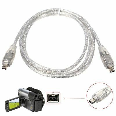 1.2M4FT IEEEA 1394 4Pin Male to 4Pin Male FireWire DV Cable Converter Cord