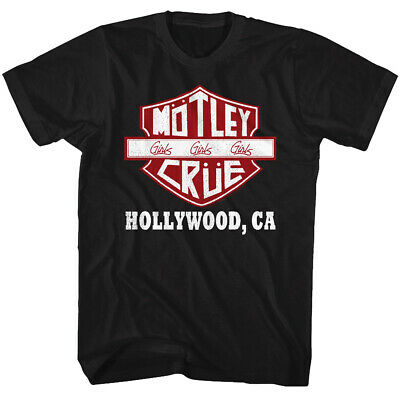 Motley Crue Girls Girls Girls Hollywood CA Adult T Shirt Heavy Metal