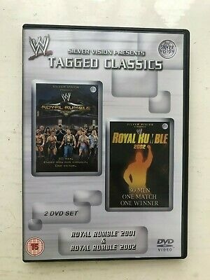 Wwe Wwf Tagged Classics Dvd Royal Rumble 2001 & 2002 Wrestling 2 Disc Set Pal Uk