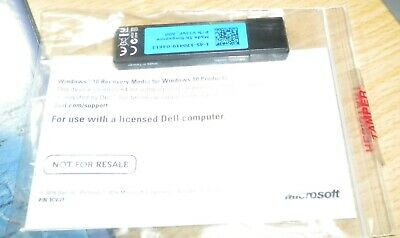 Dell Windows 10 OS Recovery Restore USB Key 64-Bit. 8GB - USB 3. New and unused.