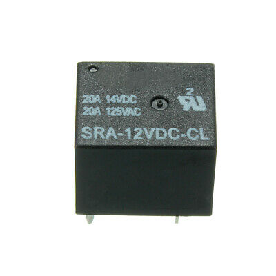 3pcs 5 Pin Relay 12V DC 20A Coil Power Relay SRA-12VDC-CL