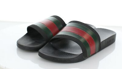 a784f0534 31-30 GUCCI Pursuit 72 Slide Black Synthetic Web Sandal Men's 9 M ...