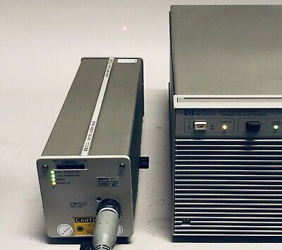 AGILENT HP HeNe LASER POSITION INTERFEROMETER COMPLETE SYSTEM 5517B 5507B +CABLE