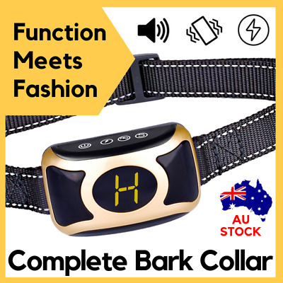 B400 COMPLETE AUTOMATIC DOG TRAINING ANTI BARK COLLAR USB rechargeable 3 modes