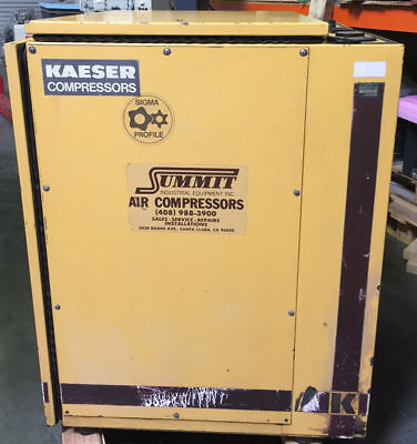 Kaeser SK19 Rotary Screw Air Compressor 64 CFM, 15 HP/3 PH, 220V-480V