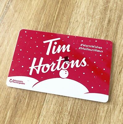 2018 TIM HORTONS Gift Card ZERO $ Balance SNOWMAN Warm Wishes (CDN), No Value