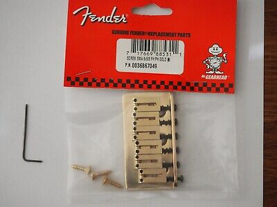 Fender American Series Stratocaster Hardtail Bridge in GOLD