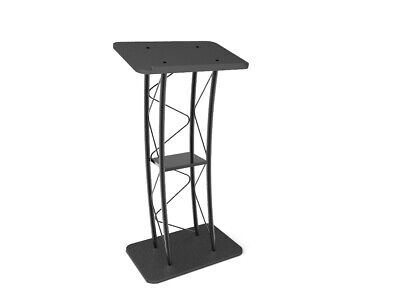 Curved Podium, Truss Metal/ Wood Pulpit Lectern 11568