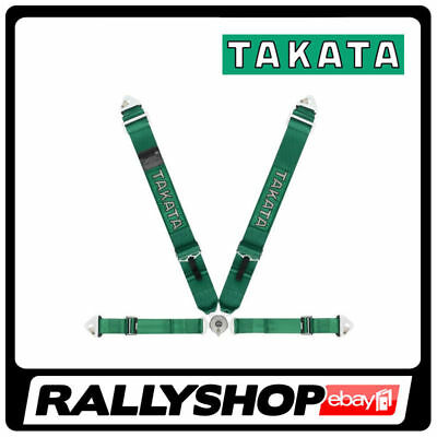 FIA Takata RACE 4 point HARNESS GREEN, CHEAP DELIVERY (SNAP, Rollcage)