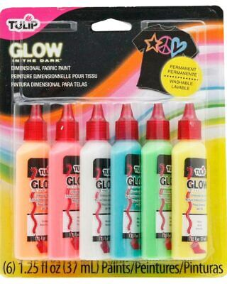 Dimensional Fabric Paint Glow Pack Of 6 One Size