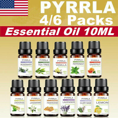 Essential Oils Set of 4/6/10/14 -100% Pure Natural Plant Aromatherapy Kit 10ml