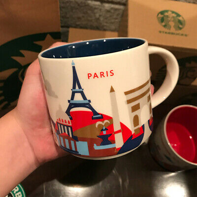 14oz Ceramic Starbucks Paris You Are Here Coffee Mug Cup YAH Collection New