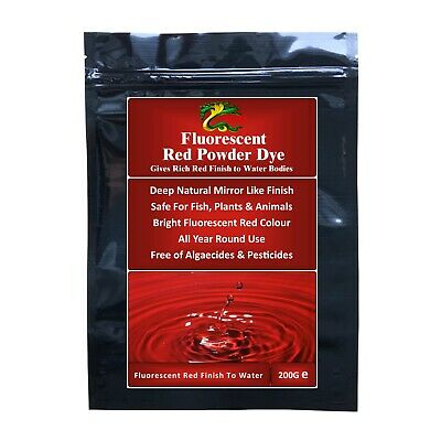 HYDRA FLUORESCENT RED DYE (Powder) Pond Water colourant