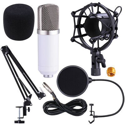 Condenser Microphone Kit Studio Suspension Boom Scissor Arm Stand Sound Record