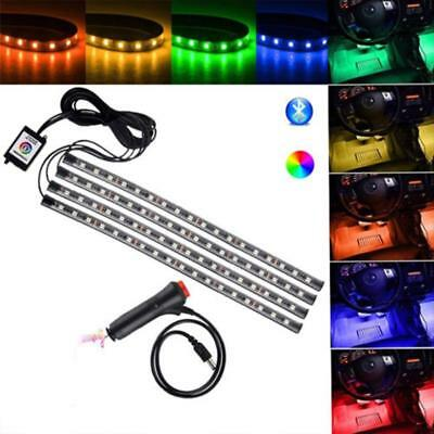 12 LED Car Charge Interior Accessories Floor Decorative Atmosphere  Lamp Light