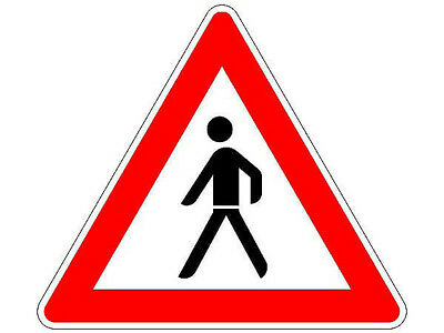 Traffic Sign Caution Pedestrian Nach Stvo S5216