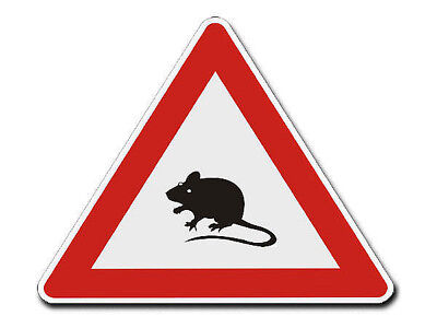 Triangular Traffic Sign with Motif Mouse S4344
