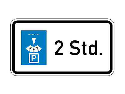 Traffic Sign Stvo - Parking Disc 2 Hours S5301