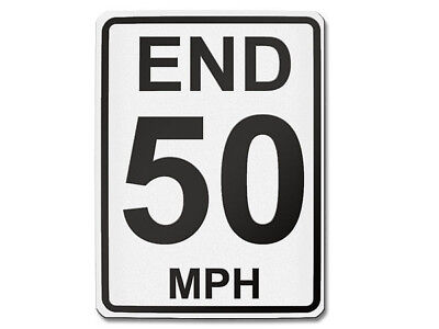 Traffic Sign USA End 50 Mph
