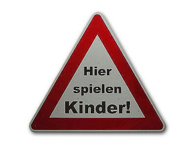 Triangular Traffic Sign : Hier Playing Kids! S755