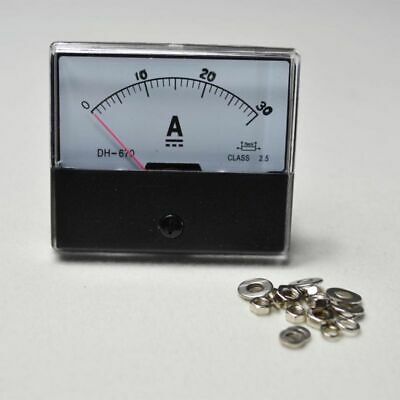 HOT DC 0-30A TOP Class 2.5 HQ Ammeter Gauge Analog Panel AMP Current Meter