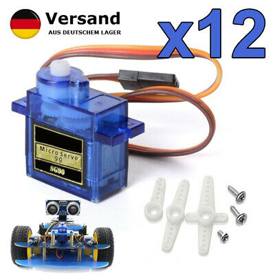 Hot 12pcs SG90 9G Micro Servo Motor RC Robot Helicopter Airplane Remote Control