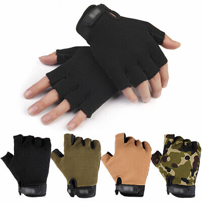 Tactical Half Finger Gloves Men Army Military Paintball Hunting Drive Fingerless