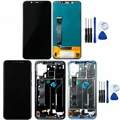 Original Per Xiaomi Mi 8 Mi8 LCD Display Touch Screen Digitizer Assembly + Frame